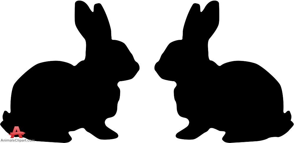 999x488 Bunny Clipart Rabbit Silhouette