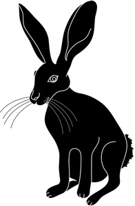 196x300 Jack Rabbit Clipart Image