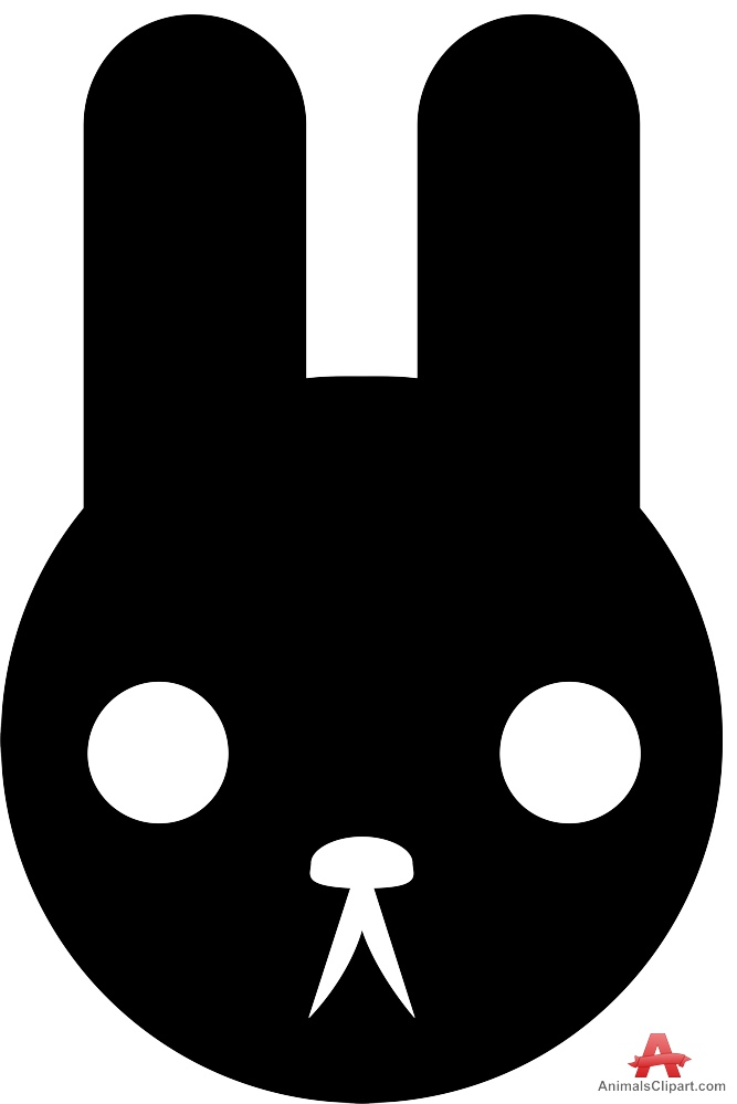 667x999 Rabbit Face Silhouette Logo Free Clipart Design Download