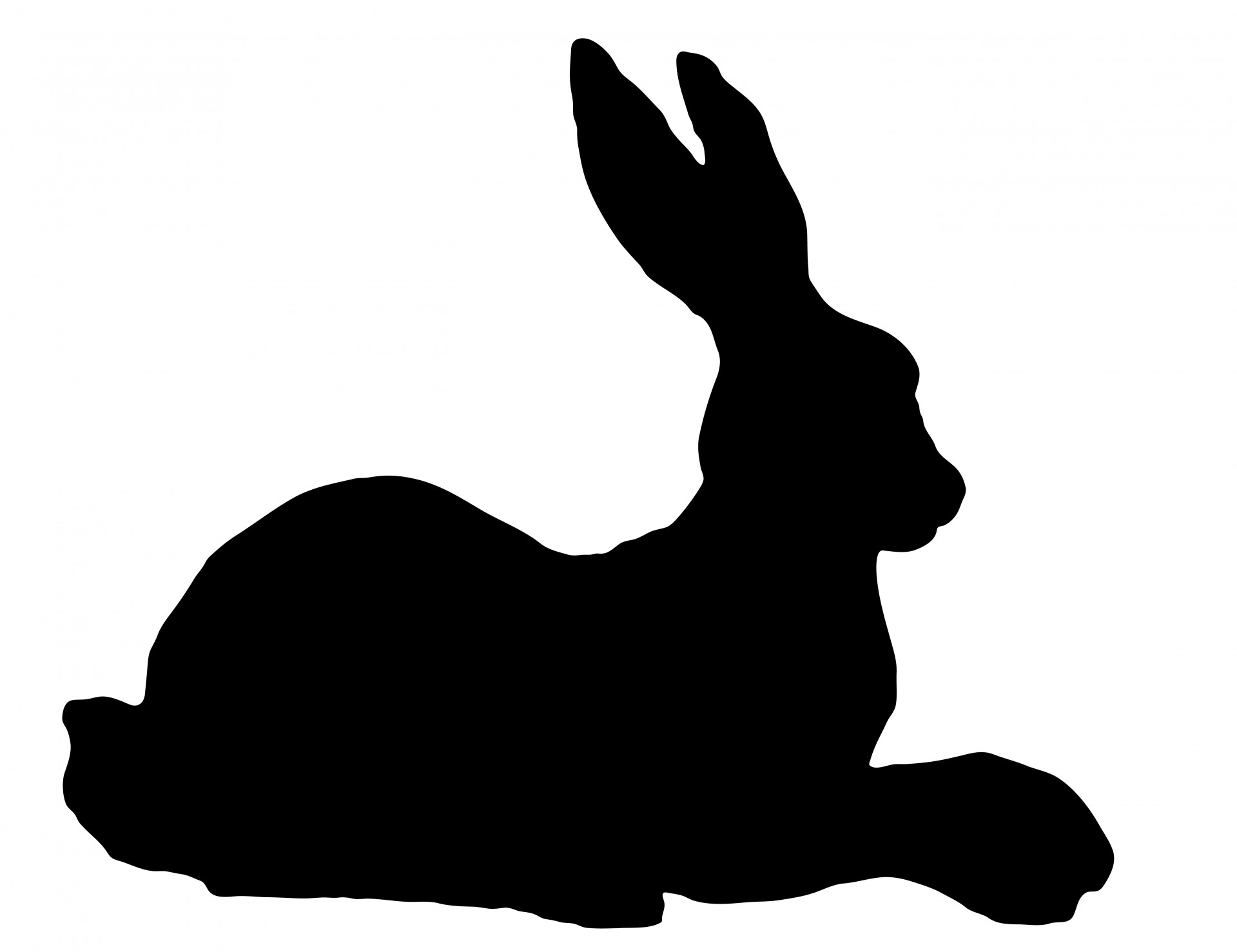 1919x1477 Rabbit Silhouette Clipart Free Stock Photo