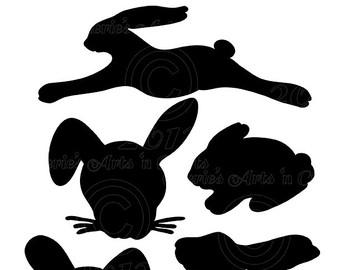 340x270 Rabbit Silhouette Etsy