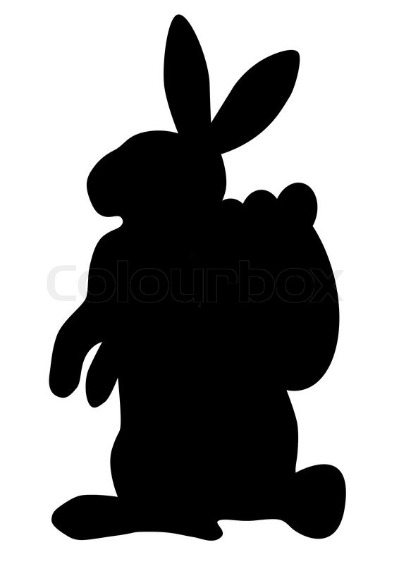 566x800 Silhouette Easter Bunny Clipart