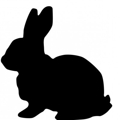 400x400 Vector Rabbit Silhouette Vector Clip Art