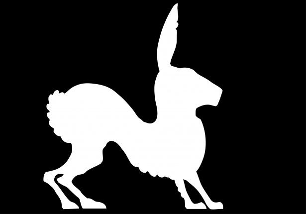 615x430 Rabbit Clipart Silhouette Free Stock Photo
