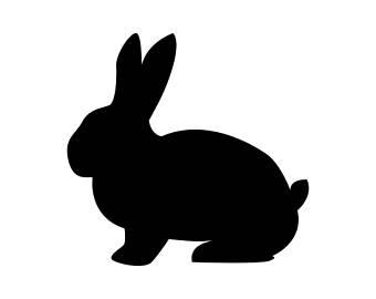 340x270 Rabbit Vector Etsy