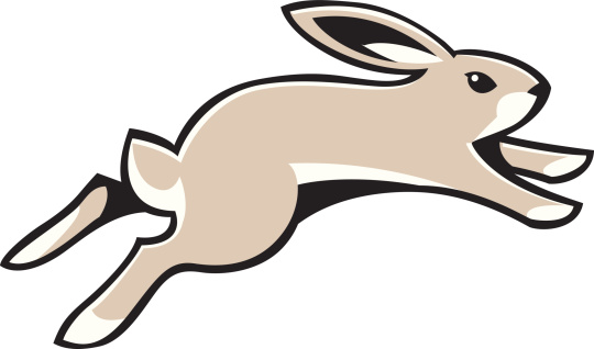 540x318 Running Rabbit Clipart