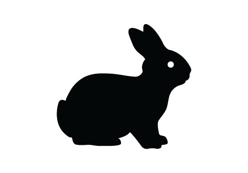 500x350 Silhouette Easter Bunny Clipart