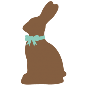 300x300 Silhouette Easter Bunny Clipart