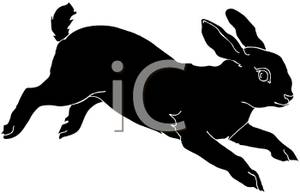 300x193 Silhouette Of A Rabbit Running