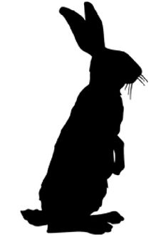 236x333 Rabbit Silhouette, Cut Out Lg Out If Plywood For Lawn Deco