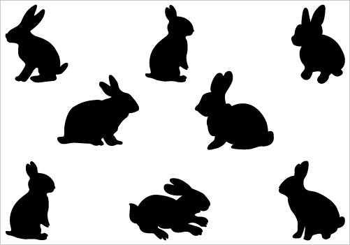 501x351 Rabbit Silhouette Free Download Clip Art Free Clip Art