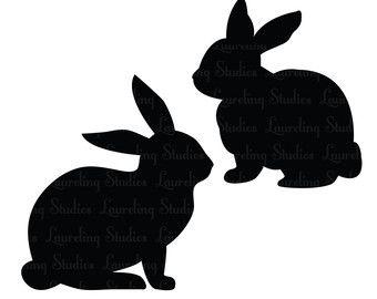 340x270 Bunny Clipart Rabbit Silhouette
