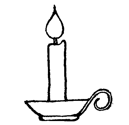 420x409 Candle Black And White Candle Clipart Black And White Free Images