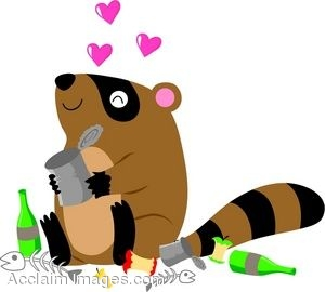 300x270 Clip Art Of A Raccoon Sitting In A Pile Of Trash