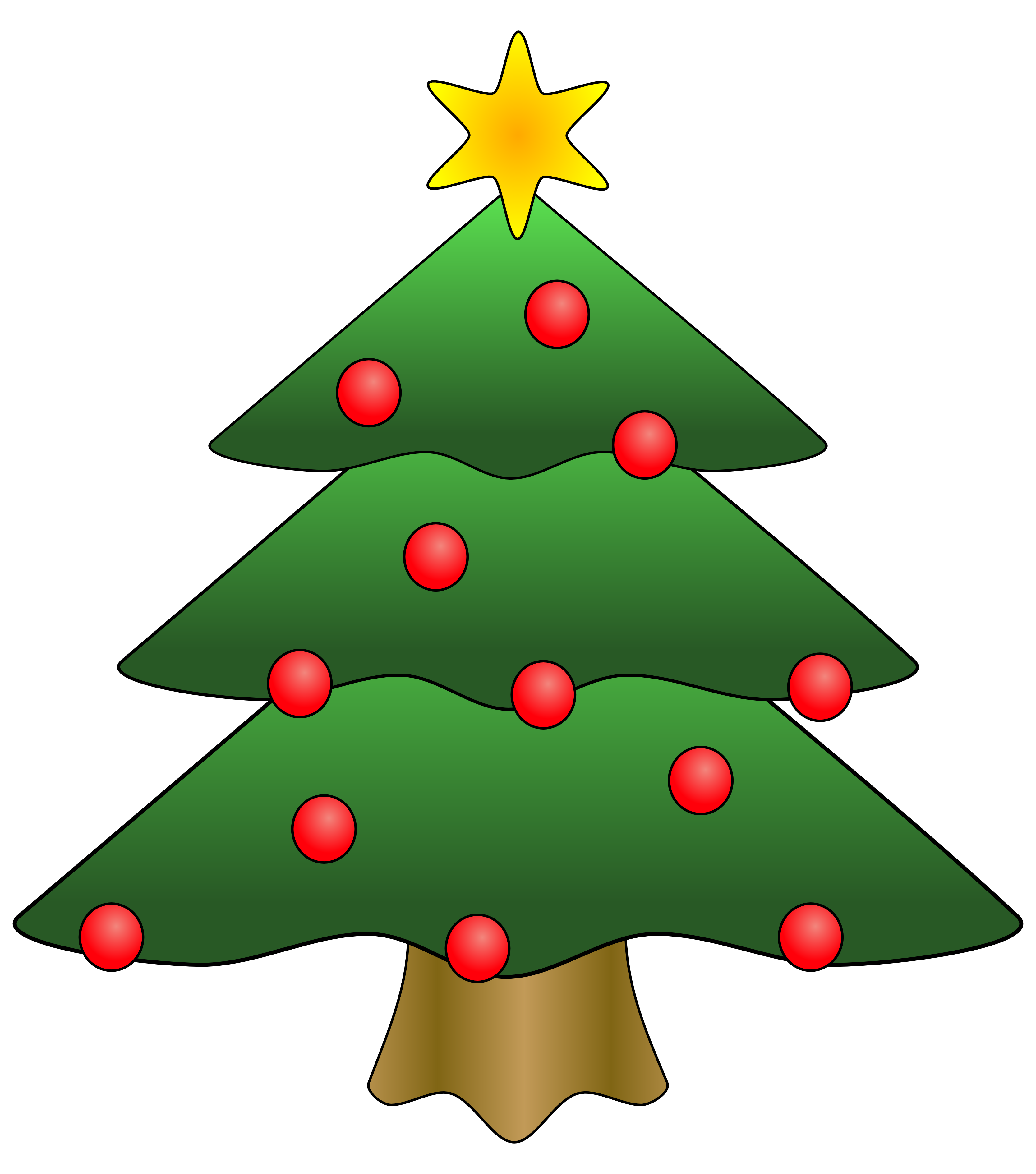 3333x3777 Clipart Of Christmas Tree