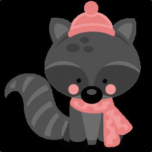 300x300 Girl Winter Raccoon Miss Kate Cuttables Scrapbooking