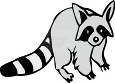 230x165 Raccoon Tracks Clip Art Free Photos