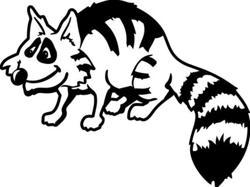 493x368 Vector Raccoon Free Vector Download (32 Free Vector)