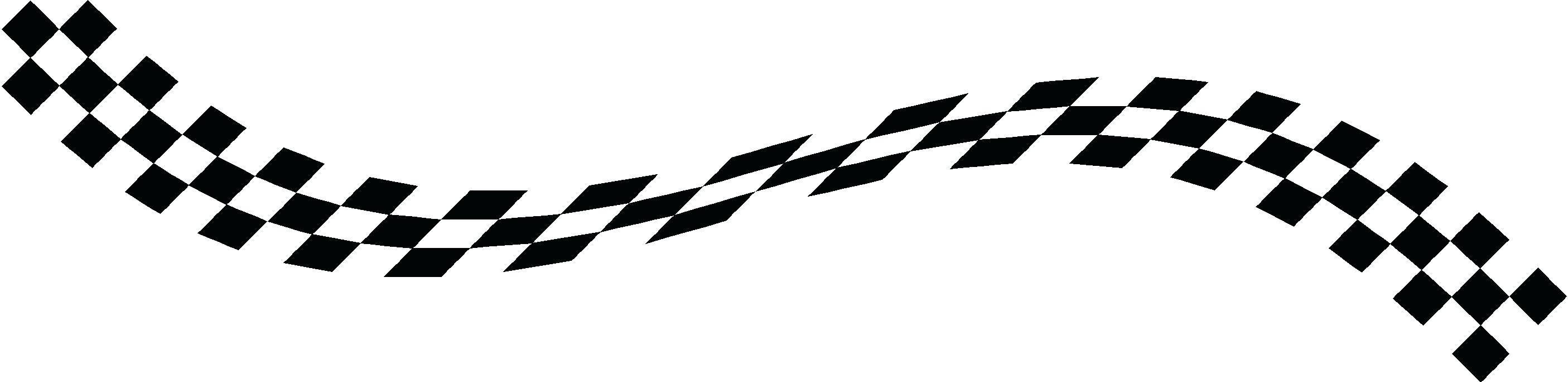 2811x684 Checkered Wallpaper Border Flag Decal Race Car Wall Racing Decor