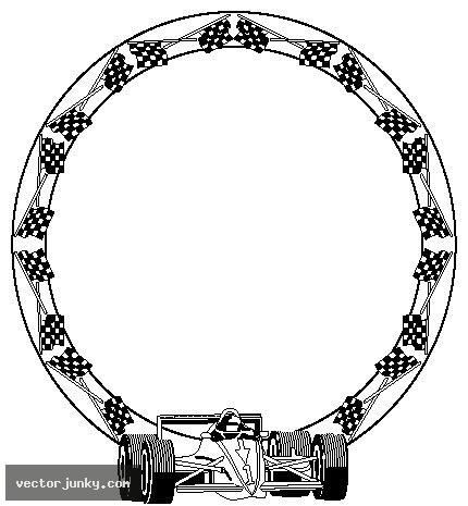 430x465 Clip Art Race Car Frame Clipart
