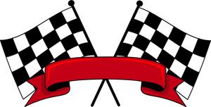 300x152 Flag Clipart Race Car