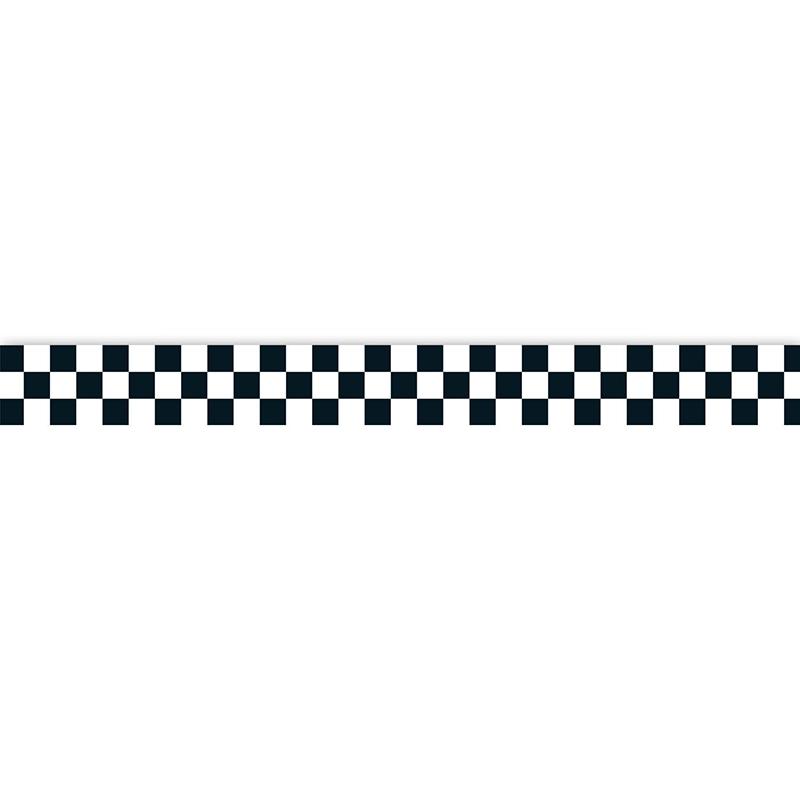 800x800 Black Amp White Checkered Racing Bulletin Board Border Cd 108105