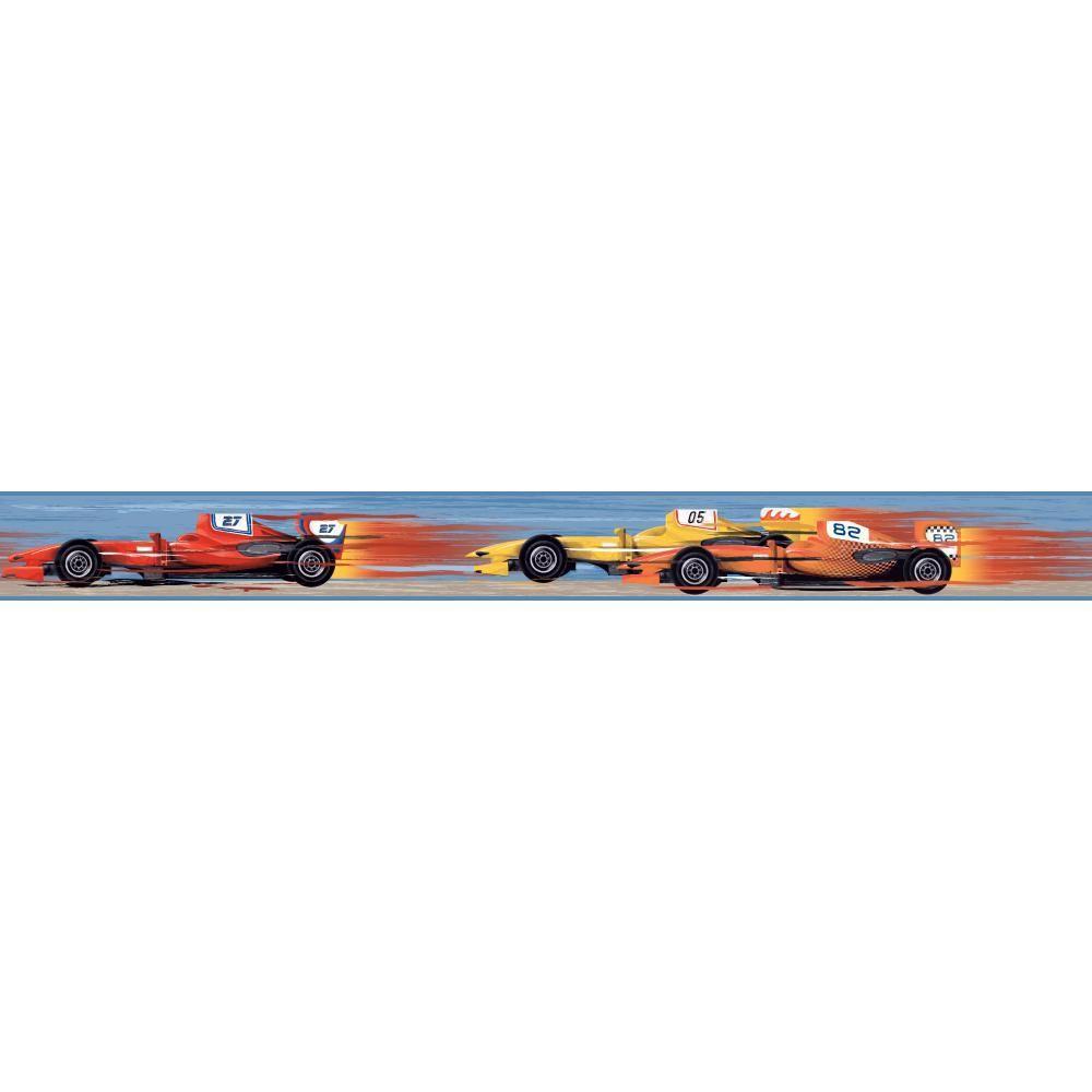 1000x1000 York Wallcoverings Cool Kids Race Car Wallpaper Border Ks2319bd