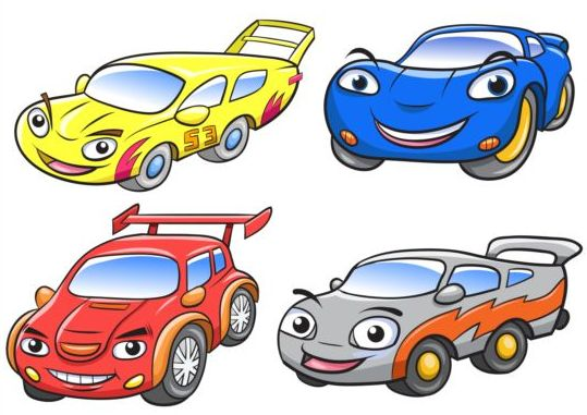 539x381 Cartoon Car Race Vector