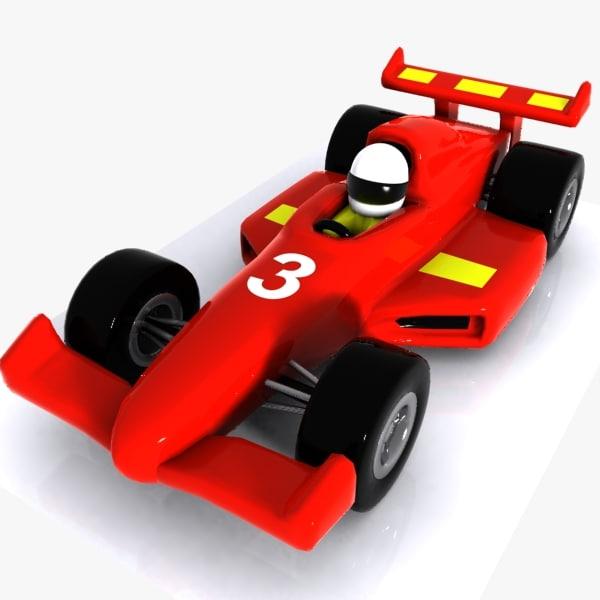 600x600 Racing Car 3ds