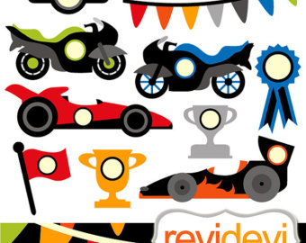 340x270 Racing Cars Clipart Etsy