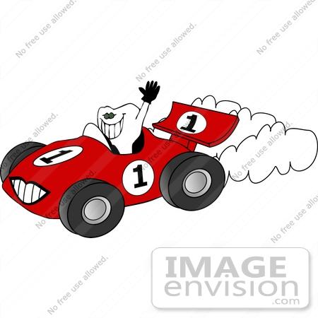 450x450 Tooth Driving A Racecar Clipart