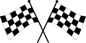 300x152 Race Car Clipart Checkered
