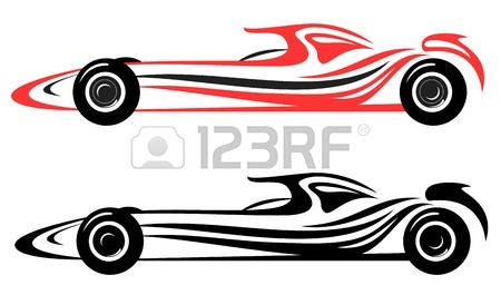 450x265 Racing Car Vector Emblem Royalty Free Cliparts, Vectors, And Stock