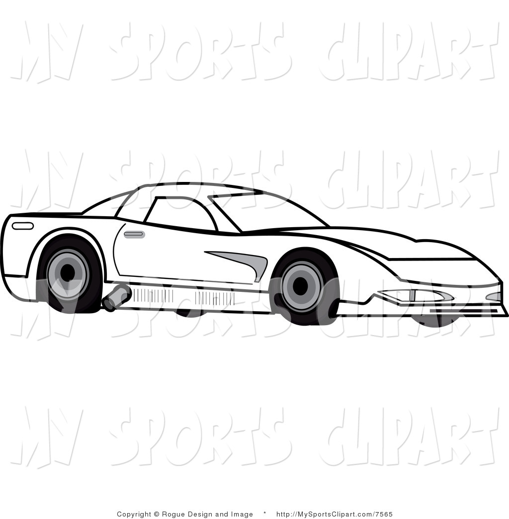 1024x1044 Sports Clip Art Of A Black And White Race Car By Pams Clipart
