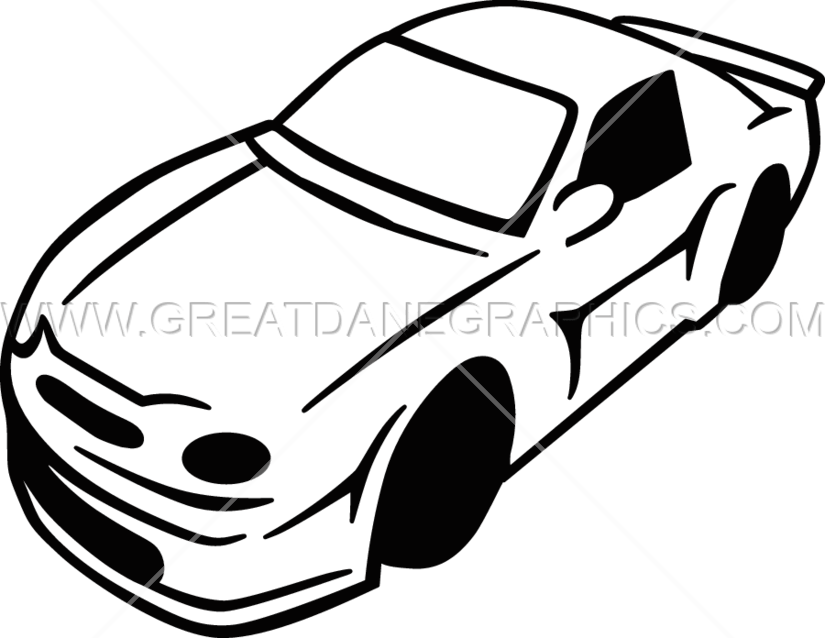 825x638 Two Tone Race Car Production Ready Artwork For T Shirt Printing