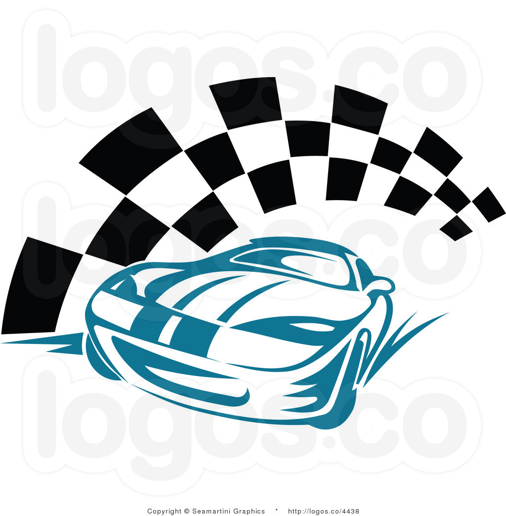 1024x1044 Blue Race Car Clipart