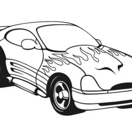 268x268 Coloring Pages Car Racing Archives