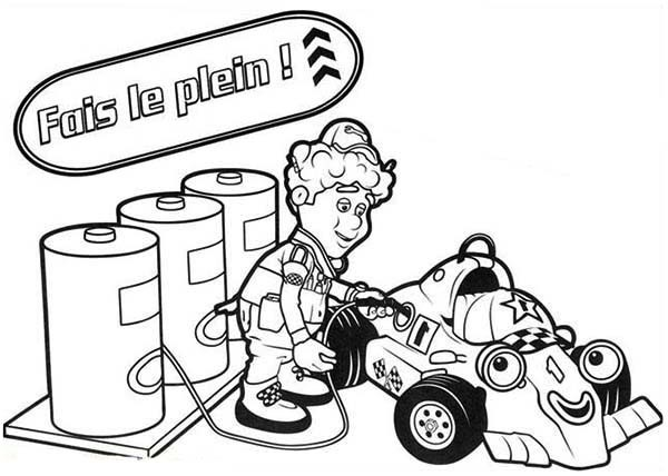 600x428 Filling Gas Tank In Roary The Racing Car Coloring Pages Best