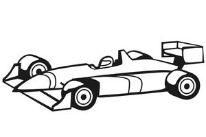 300x200 Formula 1 Race Car Coloring Page