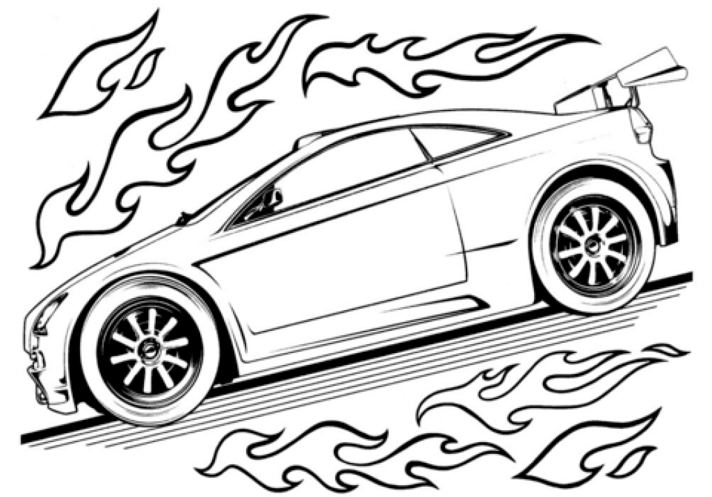1024x715 Free Printable Race Car Coloring Pages For Kids With Regard To