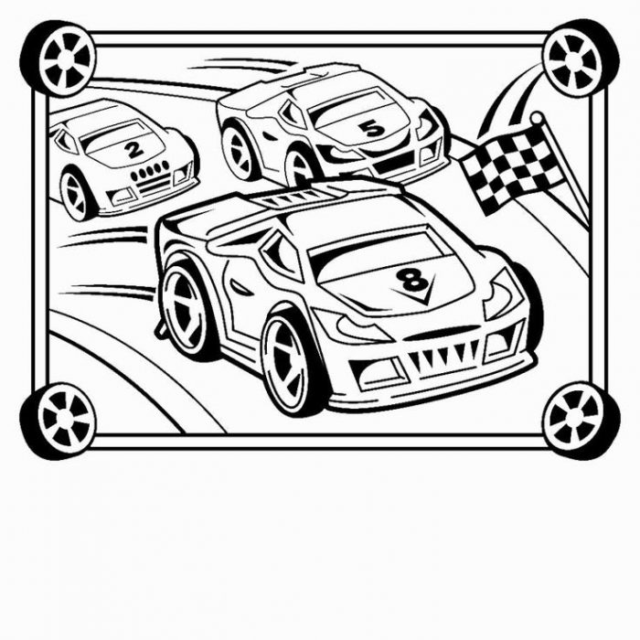 Race Car Coloring Pages Free download on ClipArtMag