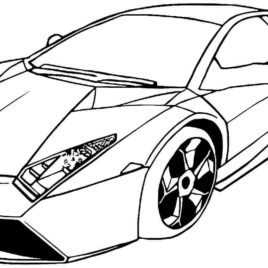 268x268 Cars Coloring Pages Print Race Car Coloring Pages Sports Cars Car