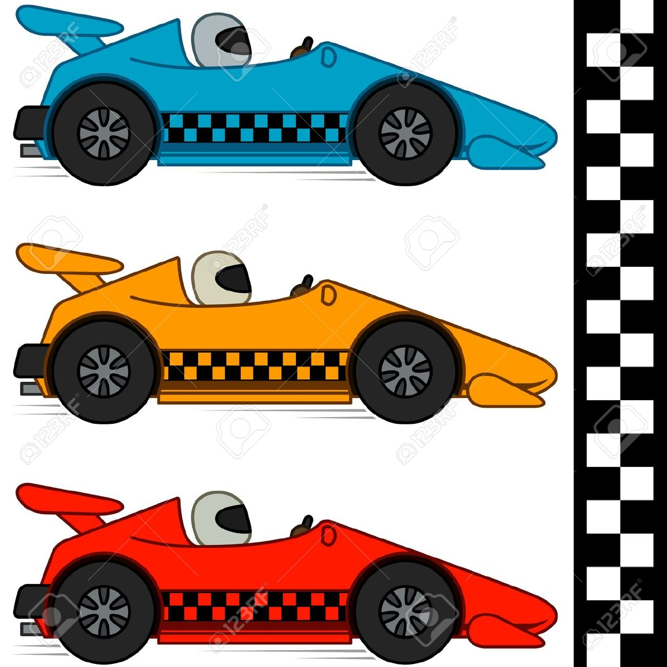 1300x1300 Free Clipart Of Racing Cars