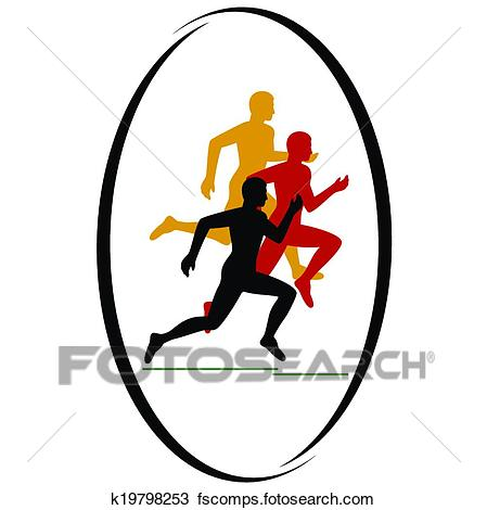449x470 Clipart Of Marathon Race K19798253