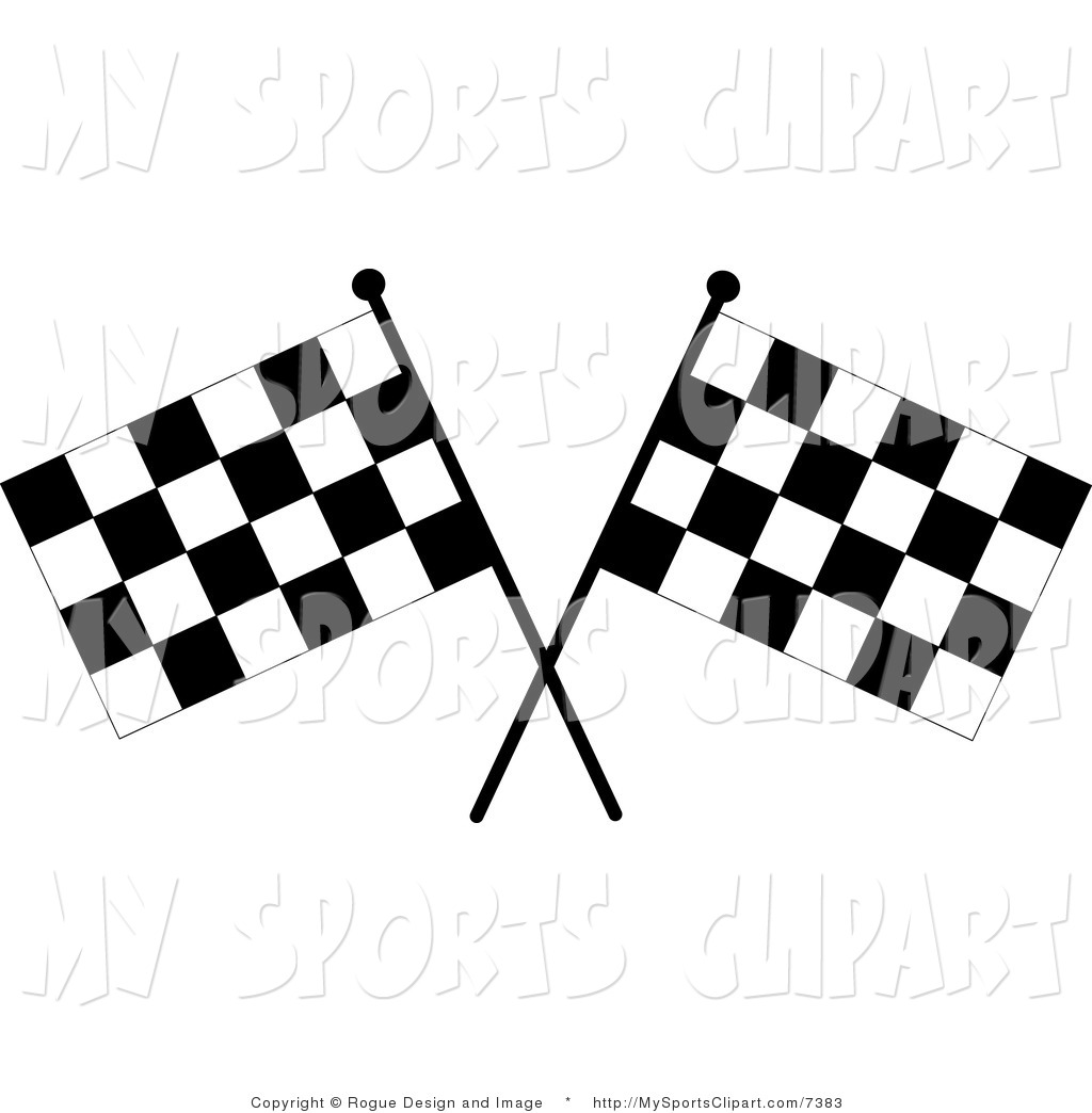 1024x1044 Sports Clip Art Of A Two Checkered Racing Flags By Pams Clipart