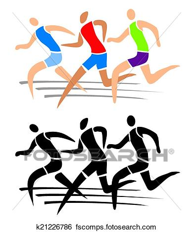 390x470 Clip Art Of Running Race K21226786