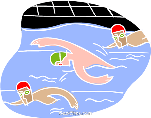480x377 Swimming Race Royalty Free Vector Clip Art Illustration Vc001181