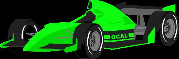 600x200 Race Car Formula One Car Vector Clip Art Image