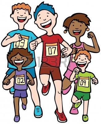 327x400 Child Clipart Running Race