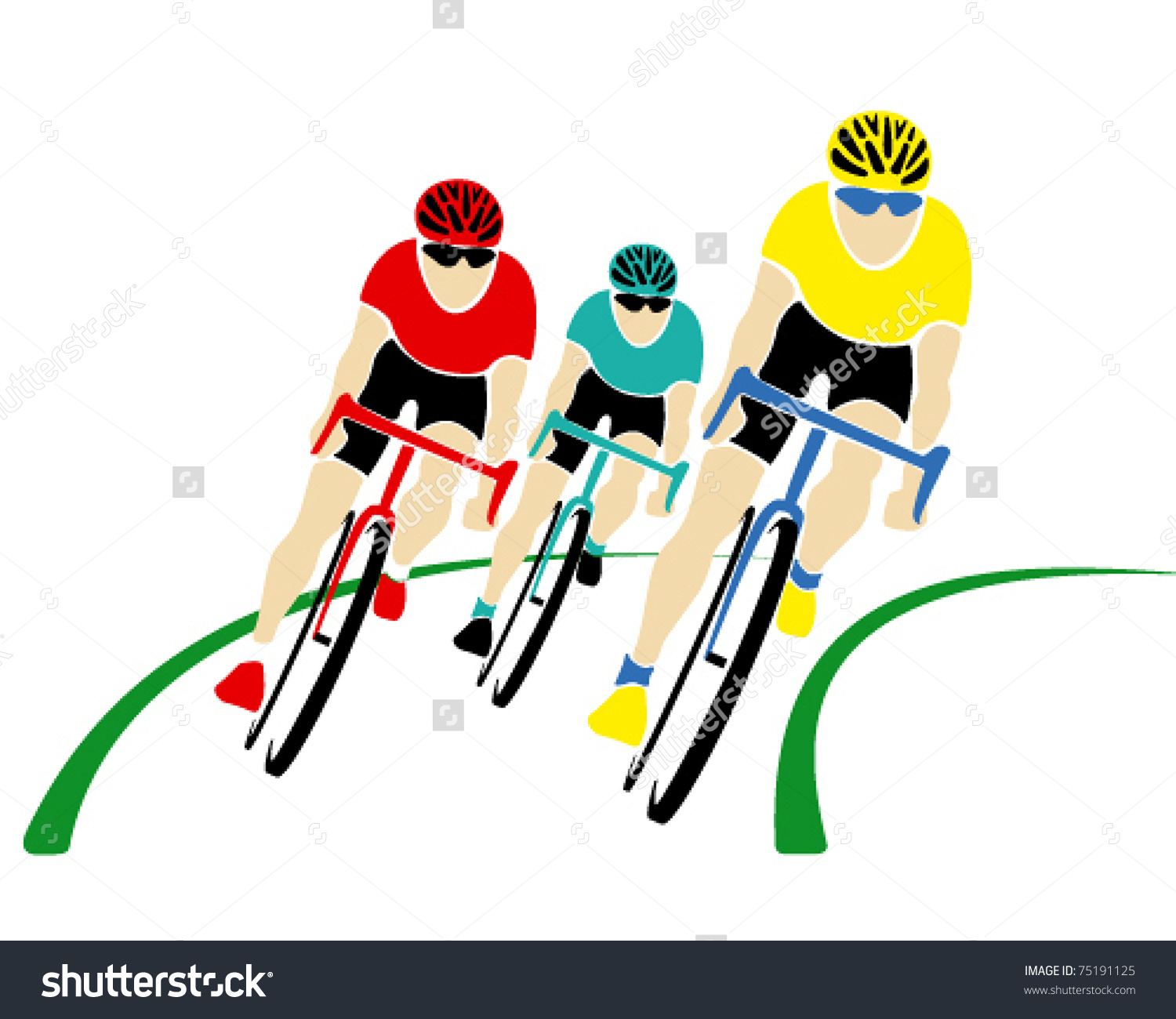 1500x1300 Cycle Race Clipart